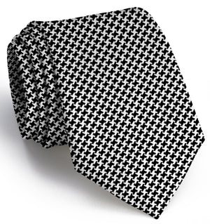 American Made Collared Greens Tie Black/White Made in the USA