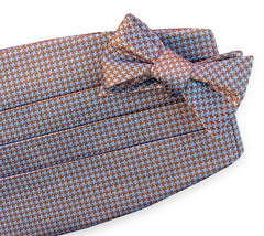 American Made Collared Greens Cummerbund Sets Blue|Brown Made in the USA