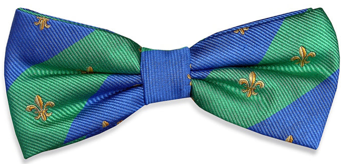 French Connection: Boys Bow Tie - Green/Blue