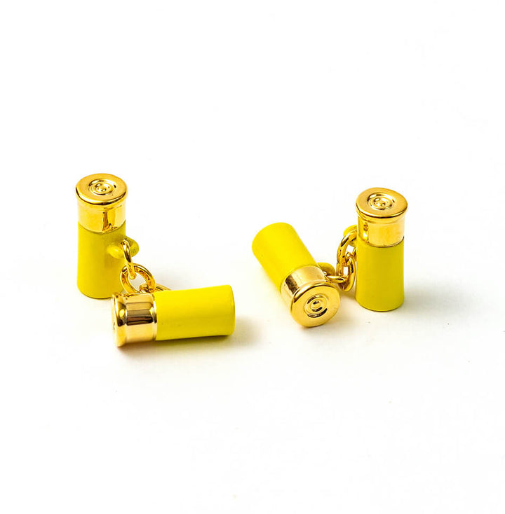 American Made Collared Greens Cufflinks - Shotgun Shells Made in the USA