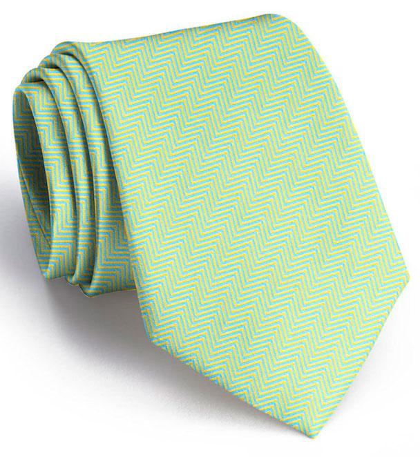 American Made Collared Greens Tie Yellow/Blue Made in the USA