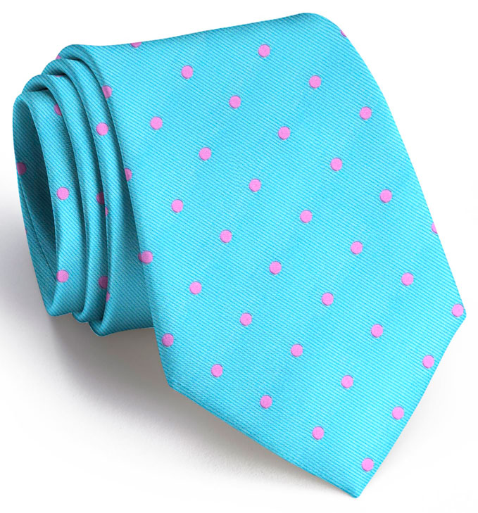American Made Collared Greens Tie Turquoise Made in the USA