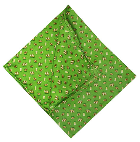 American Made Collared Greens Pocket Squares Green Made in the USA