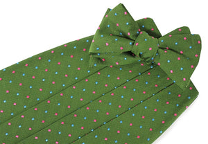 American Made Collared Greens Cummerbund Sets Green Made in the USA