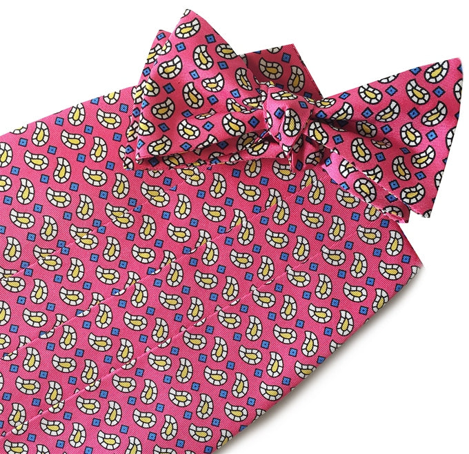 American Made Collared Greens Cummerbund Sets Pink Made in the USA