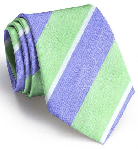 American Made Collared Greens Tie Lime/Violet Made in the USA
