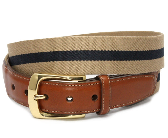 Surcingle: Belt - Khaki/ Navy