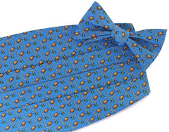 American Made Collared Greens Cummerbund Sets Blue Made in the USA