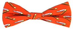 Mack the Knife: Boys Bow Tie - Orange