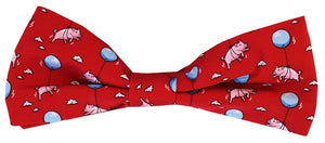 When Pigs Fly: Boys Bow Tie - Red