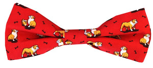 Bulldog Bonanza: Boys Bow Tie - Red