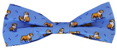 Bulldog Bonanza: Boys Bow Tie - Blue
