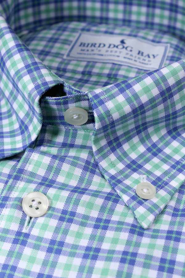 Aberdeen: Button Down Shirt - Green/Blue