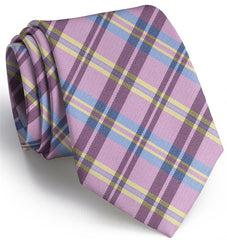 Paddock Plaid: Boys Tie - Pink