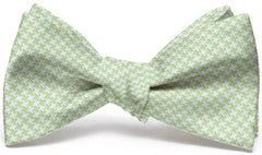 Houndstooth: Bow Tie - Light Green