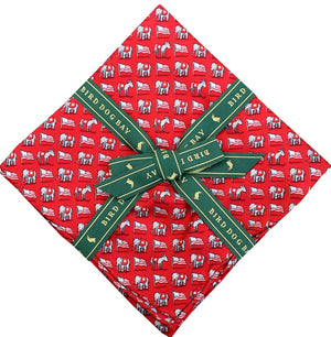 American Made Collared Greens Pocket Squares Red Made in the USA