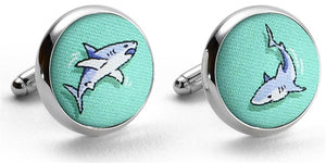 Shark Week: Cufflinks - Mint