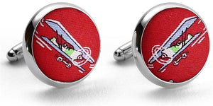First In Flight: Cufflinks - Red