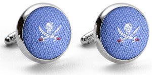 Jolly Roger: Cufflinks - Blue