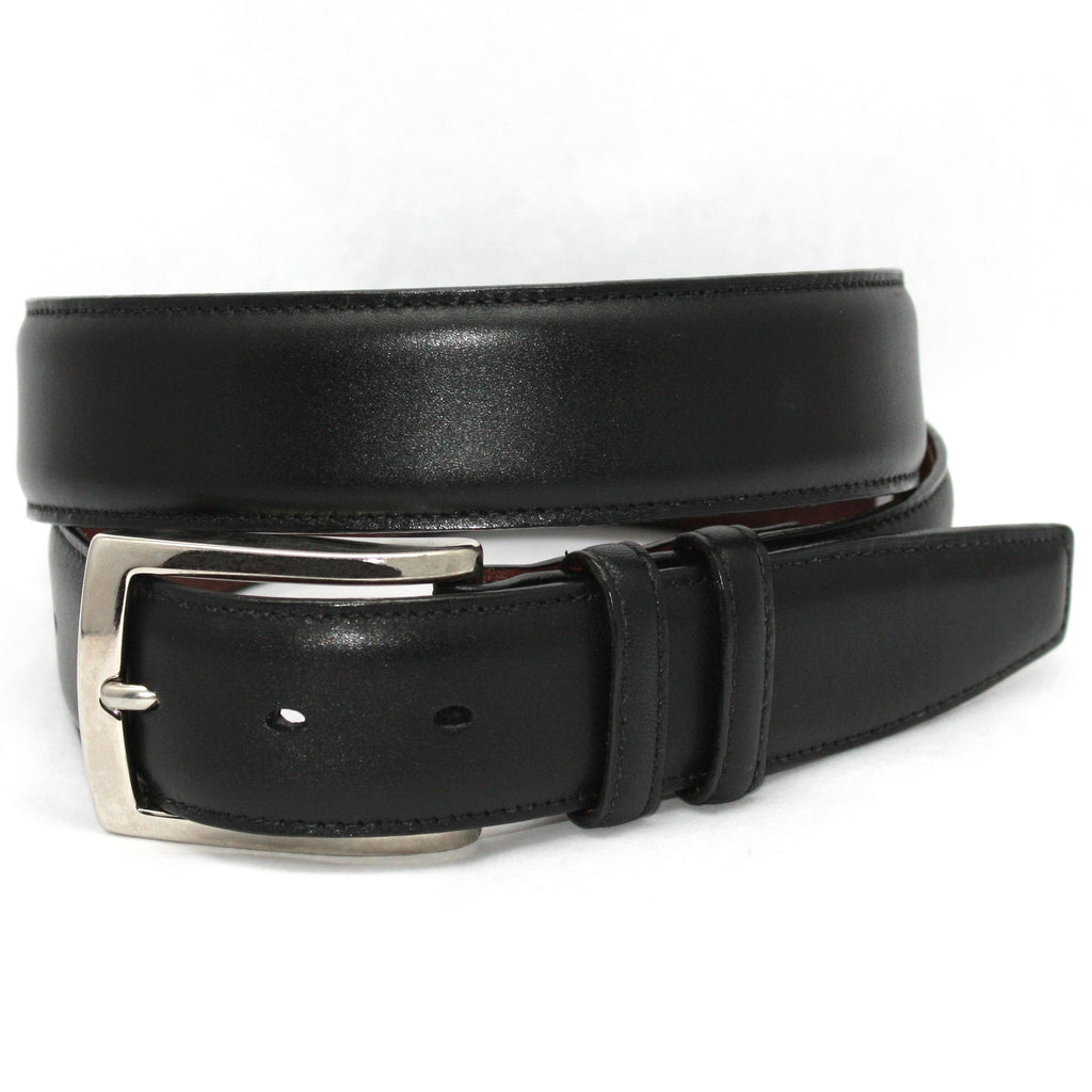 Italian Burnished Calfskin: Belt - Black