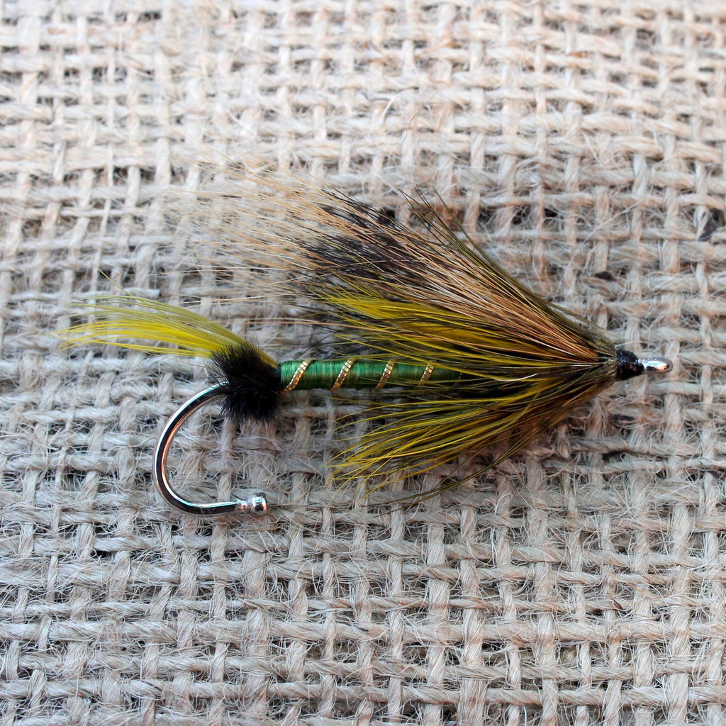 American Made Collared Greens Fly Fishing Lapel Pins Green|Yellow Made in the USA