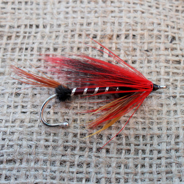 American Made Collared Greens Fly Fishing Lapel Pins Orange|Red Made in the USA