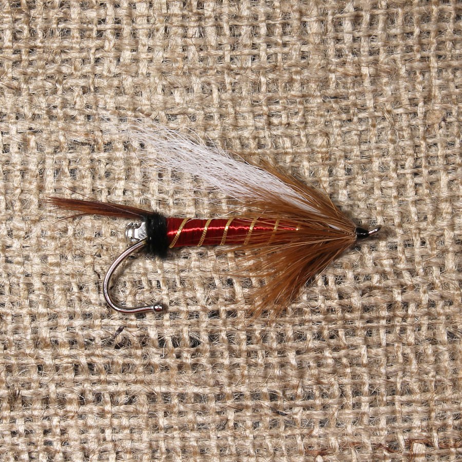 American Made Collared Greens Fly Fishing Lapel Pins Brown|Red Made in the USA
