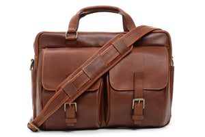 Barton: Laptop Briefcase - Espresso