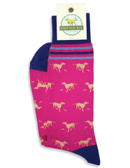 American Made Collared Greens Socks Pink Made in the USA