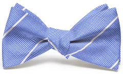 Sheffield Stripe: Bow Tie - Blue/White