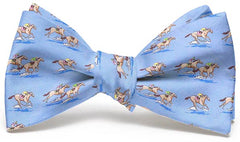 And They're Off: Boys Bow Tie - Blue
