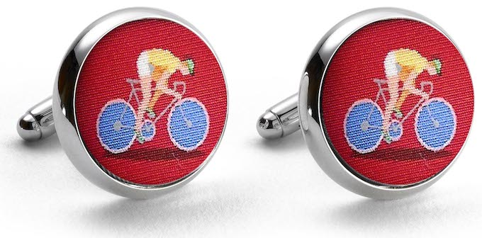 Bicycle Race: Cufflinks - Red