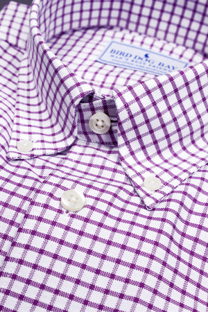 Sutherland: Button Down Shirt - Plum