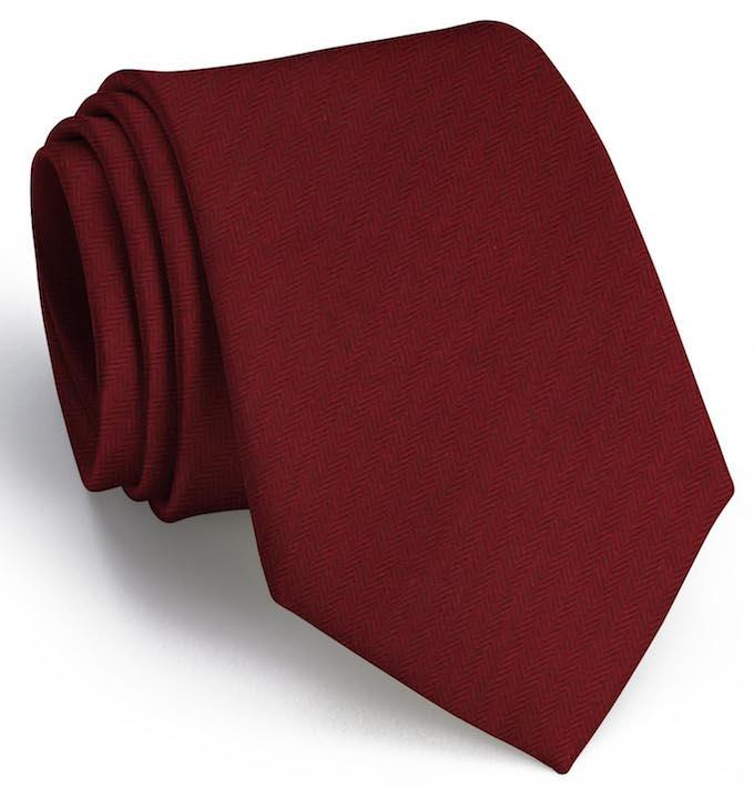 American Made Collared Greens Tie Red Made in the USA