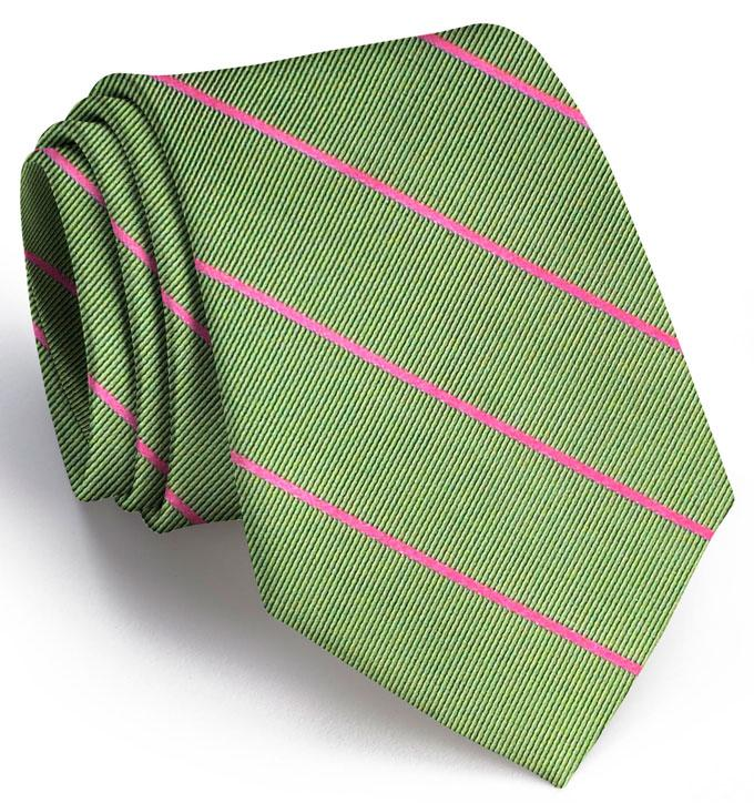 American Made Collared Greens Tie Olive/Pink Made in the USA