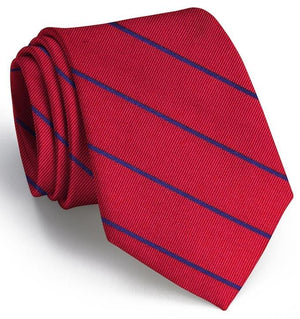 American Made Collared Greens Tie Red/Blue Made in the USA