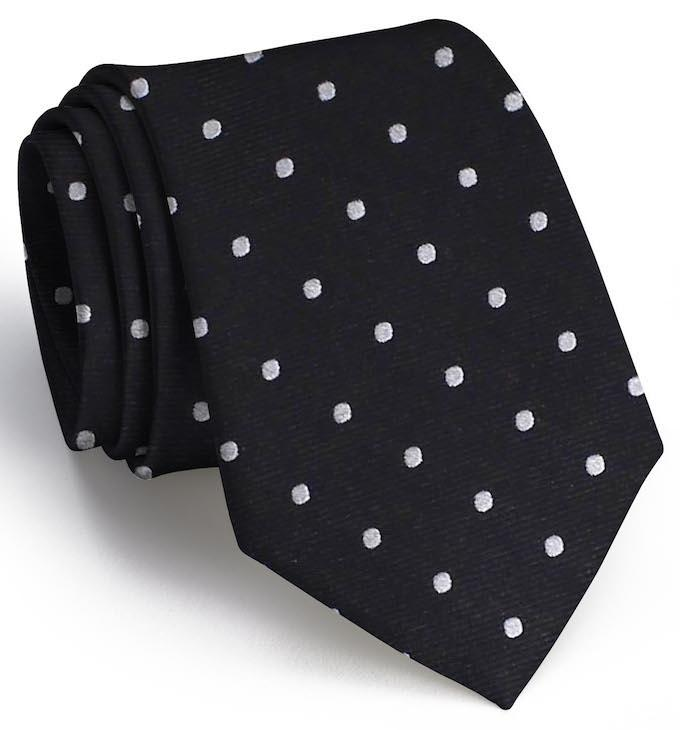 American Made Collared Greens Tie Black/Gray Made in the USA