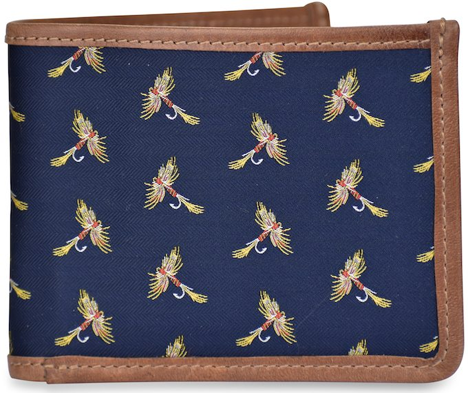 American Made Collared Greens Wallets Navy Made in the USA