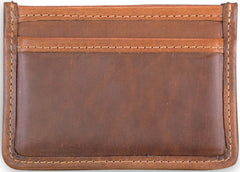 American Made Collared Greens Wallets Brown Made in the USA