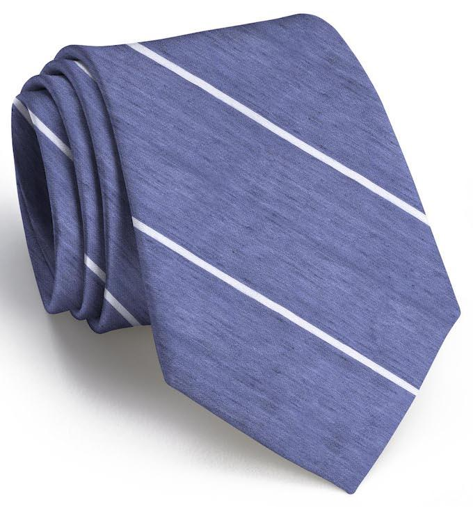 American Made Collared Greens Ties Navy/White Made in the USA