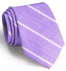 American Made Collared Greens Tie Violet/White Made in the USA