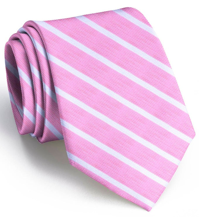 American Made Collared Greens Tie Pink/White Made in the USA