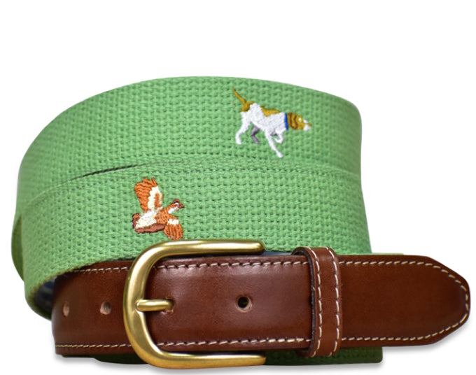 Good Point: Embroidered Belt - Sage