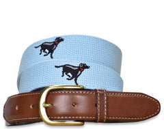 Lab Race: Embroidered Belt - Light Blue