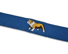 Bulldog Buddies: Embroidered Belt - Royal Blue