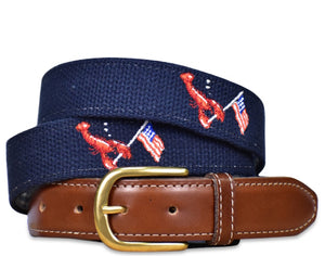 Patriotic Pinchers: Embroidered Belt - Navy