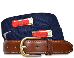 Shell Out: Embroidered Belt - Navy