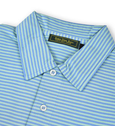 Haddon: Polo Shirt - Blue/Green