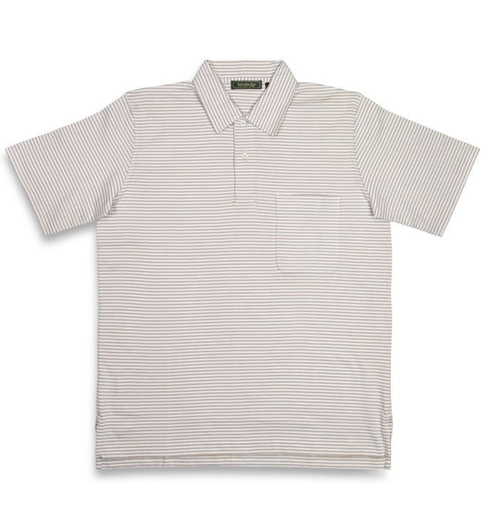 Haddon: Polo Shirt - Sand/White