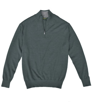 Royal Alpaca Sweater: Quarter Zip - Graphite